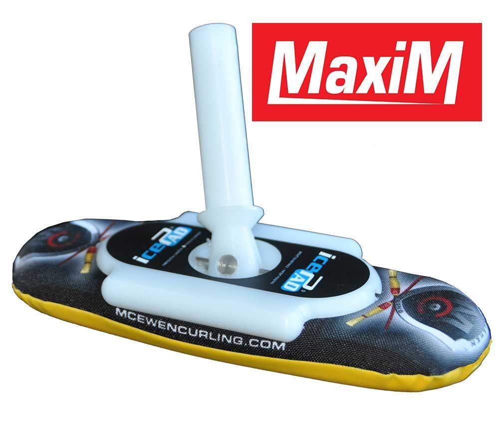 MaxiM icePad Brushes Black/Yellow
