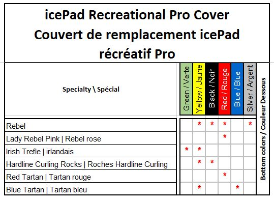 Icepad recreational Pro cover Speciaty and color options
